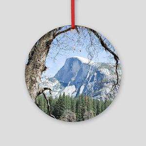 Yosemite's Half Dome Ornament (Round)