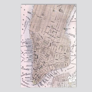Vintage Map of New York C Postcards (Package of 8)