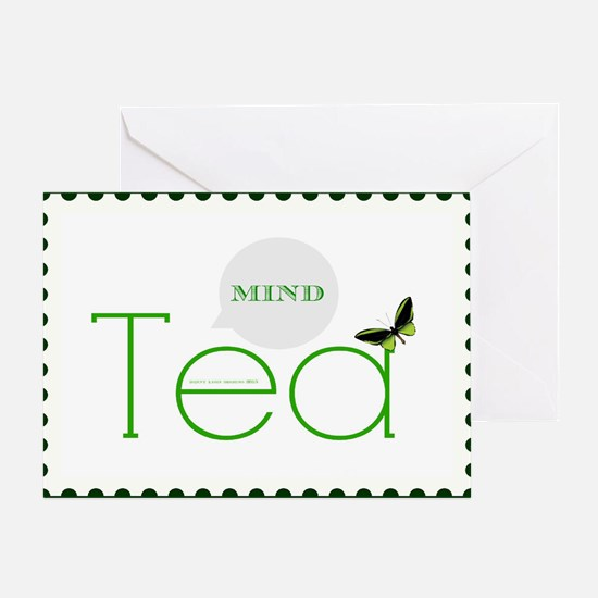 Tea Mind Dark Card Greeting Cards