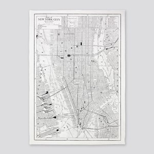 Vintage Map of New York City (1911) 5'x7'Area Rug