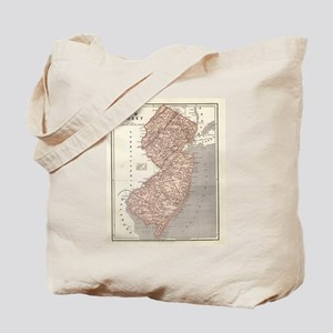 Vintage Map of New Jersey (1845) Tote Bag