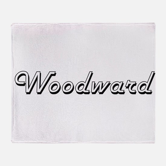 Woodward surname classic design Throw Blanket
