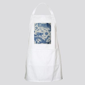 blue and white chinoiserie delft vintage chi Apron