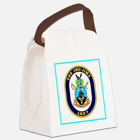 USS Iwo Jima Canvas Lunch Bag
