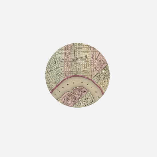 Vintage Map of New Orleans (1880) Mini Button