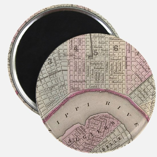 Vintage Map of New Orleans (1880) Magnet
