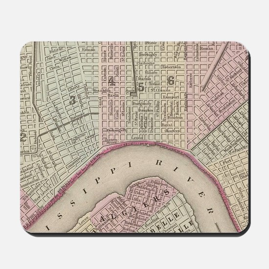 Vintage Map of New Orleans (1880) Mousepad