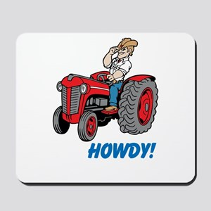 Farmer on Red Tractor Mousepad