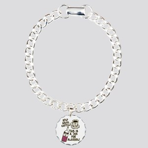 Step Aside Coffee / Alco Charm Bracelet, One Charm