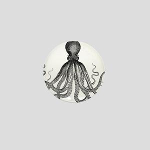 vintage kraken octopus sea creature mo Mini Button
