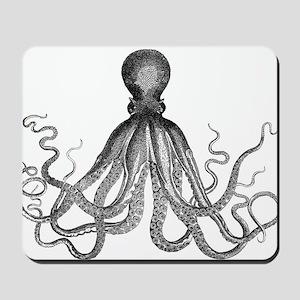 vintage kraken octopus sea creature mons Mousepad