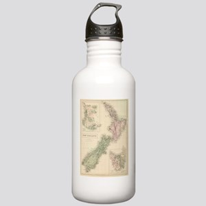 Vintage Map of New Zea Stainless Water Bottle 1.0L