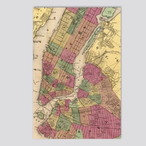 Vintage Map of NYC and Br Postcards (Package of 8)