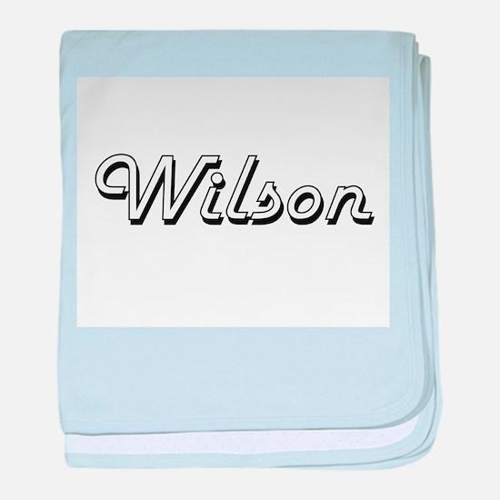 Wilson surname classic design baby blanket