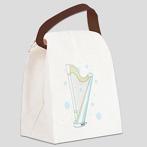 harp-snowflakes no bg copy Canvas Lunch Bag