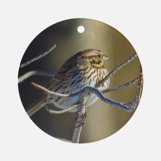 Sparrow Ornament (Round)