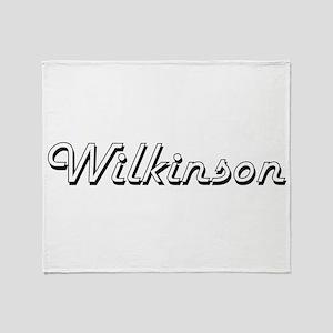 Wilkinson surname classic design Throw Blanket