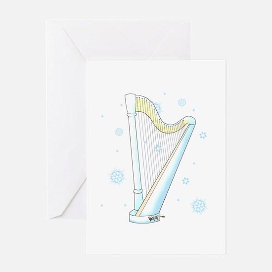 Winter Harp Greeting Cards