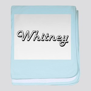 Whitney surname classic design baby blanket