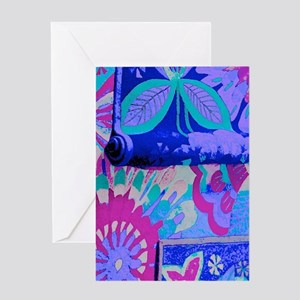 Fanciful Flowers Greeting Cards