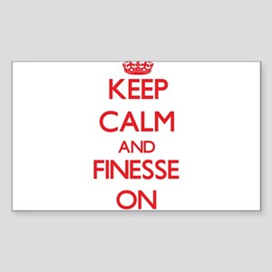 Keep Calm and Finesse ON Sticker