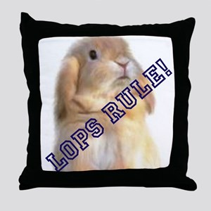 Lops Rule Throw Pillow