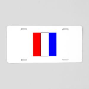 ICS Flag Letter T Aluminum License Plate