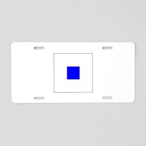 ICS Flag Letter S Aluminum License Plate
