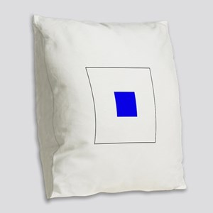 ICS Flag Letter S Burlap Throw Pillow
