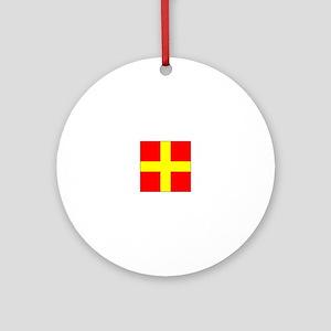 ICS Flag Letter R Ornament (Round)