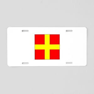 ICS Flag Letter R Aluminum License Plate