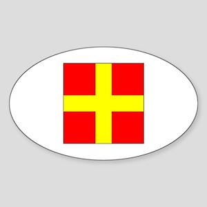 ICS Flag Letter R Sticker