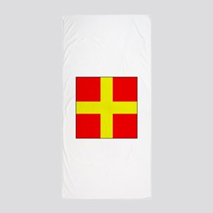 ICS Flag Letter R Beach Towel