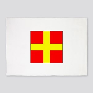 ICS Flag Letter R 5'x7'Area Rug