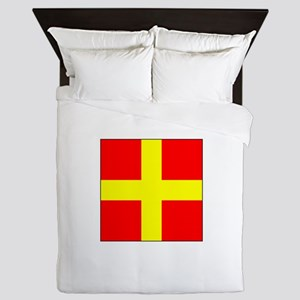 ICS Flag Letter R Queen Duvet