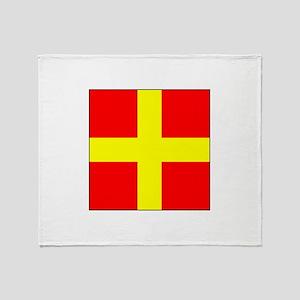 ICS Flag Letter R Throw Blanket