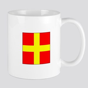 ICS Flag Letter R Mugs