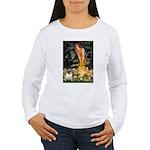 Fairies & Pug Women's Long Sleeve T-Shirt