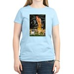 Fairies & Pug Women's Light T-Shirt