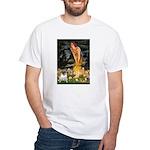 Fairies & Pug White T-Shirt