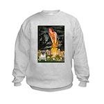 Fairies & Pug Kids Sweatshirt