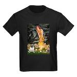 Fairies & Pug Kids Dark T-Shirt