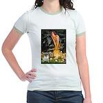Fairies & Pug Jr. Ringer T-Shirt