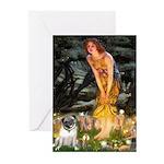Fairies & Pug Greeting Cards (Pk of 10)