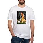 Fairies & Pug Fitted T-Shirt