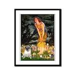 Fairies & Pug Framed Panel Print
