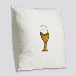First Holy Communion Burlap Throw Pillow