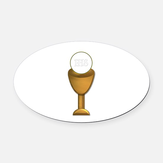 First Holy Communion Oval Car Magnet
