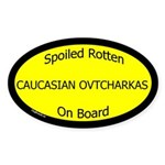 Spoiled Caucasian Ovtcharkas Oval Sticker