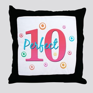 Perfect 10 Throw Pillow